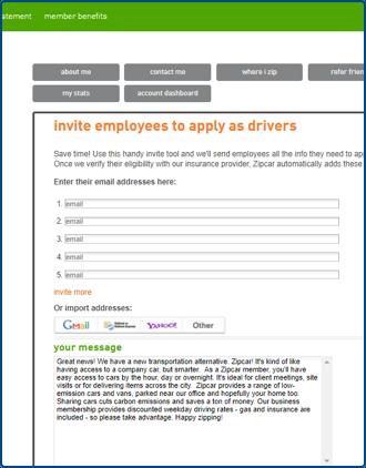 capture d'écran de la page administrateur